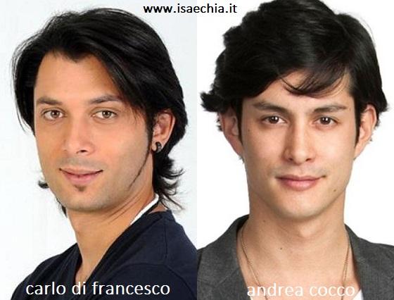 Somiglianza tra Carlo Di Francesco e Andrea Cocco