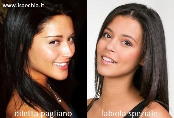 Somiglianza tra Diletta Pagliano e Fabiola Speziale