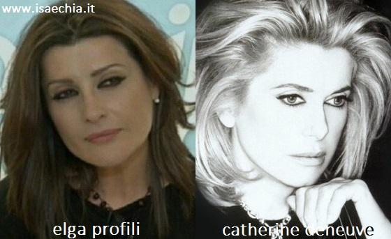 Somiglianza tra Elga Profili e Catherine Deneuve