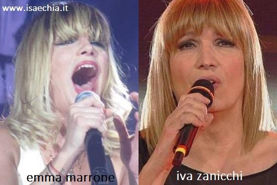 Somiglianza tra Emma Marrone e Iva Zanicchi