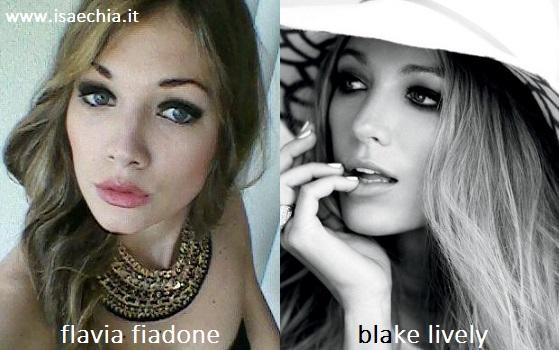 Somiglianza tra Flavia Fiadone e Blake Lively