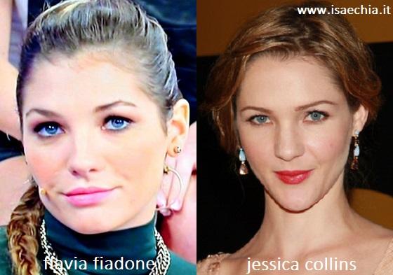 Somiglianza tra Flavia Fiadone e Jessica Collins