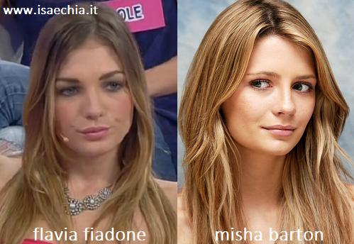 Somiglianza tra Flavia Fiadone e Misha Barton
