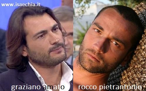 Somiglianza tra Graziano Amato e Rocco Pietrantonio