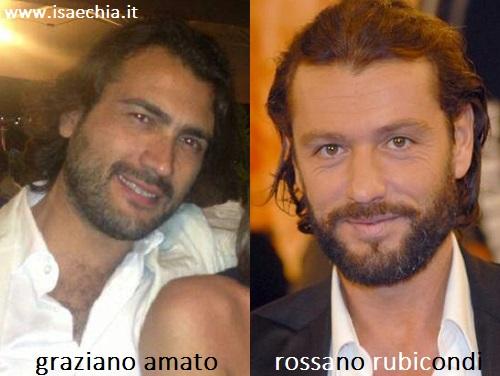 Somiglianza tra Graziano Amato e Rossano Rubicondi