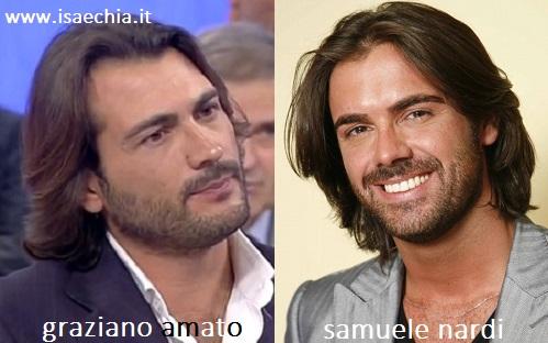 Somiglianza tra Graziano Amato e Samuele Nardi