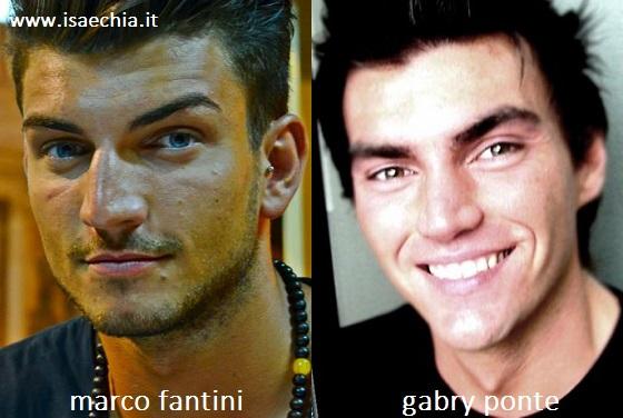 Somiglianza tra Marco Fantini e Gabry Ponte