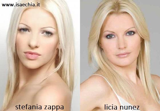 Somiglianza tra Stefania Zappa e Licia Nunez