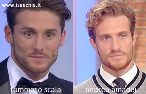 Somiglianza tra Tommaso Scala e Andrea Amadei