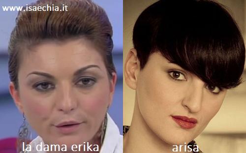 Somiglianza tra la dama Erika e Arisa