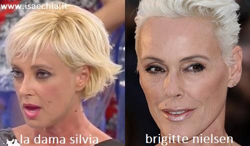 Somiglianza tra la dama Silvia e Brigitte Nielsen
