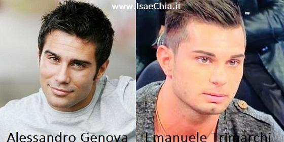 Somiglianza tra Alessandro Genova ed Emanuele Trimarchi
