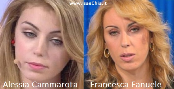 Somiglianza tra Alessia Cammarota e Francesca Fanuele | Isa e Chia