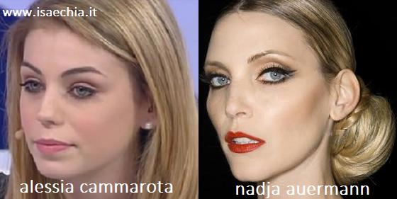 Somiglianza tra Alessia Cammarota e Nadja Auermann
