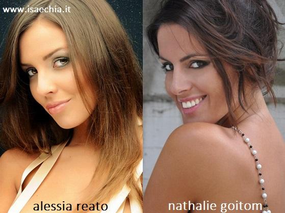 Somiglianza tra Alessia Reato e Nathalie Goitom
