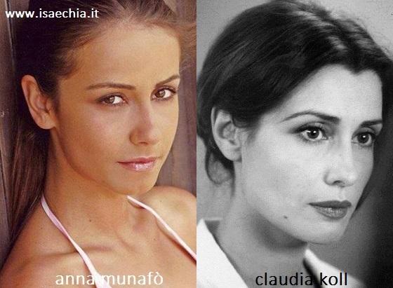 Somiglianza tra Anna Munafò e Claudia Koll