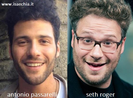 Somiglianza tra Antonio Passarelli e Seth Roger