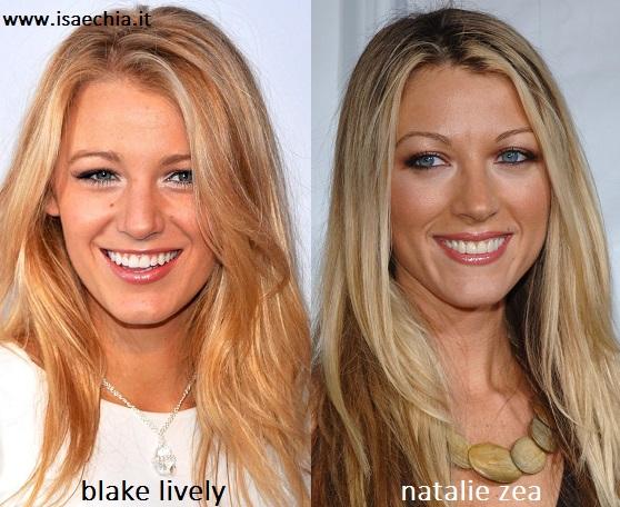 Somiglianza tra Blake Lively e Natalie Zea