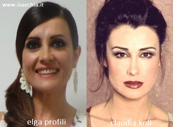 Somiglianza tra Elga Profili e Claudia Koll