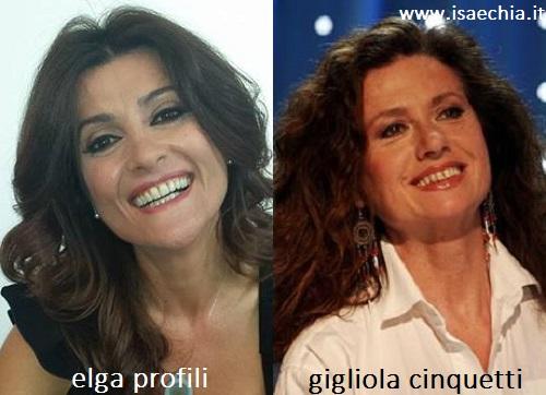Somiglianza tra Elga Profili e Gigliola Cinquetti