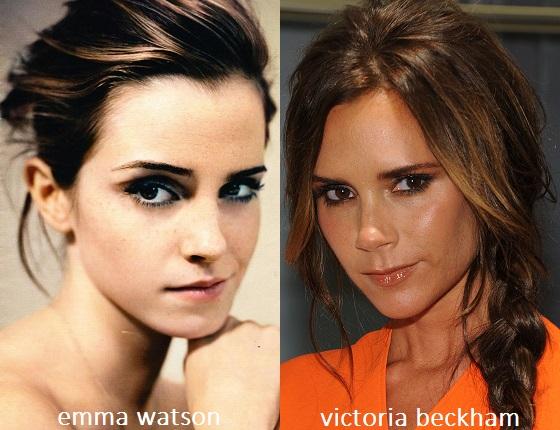 Somiglianza tra Emma Watson e Victoria Beckham