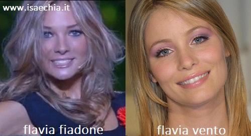 Somiglianza tra Flavia Fiadone e Flavia Vento