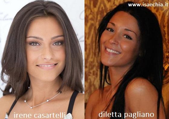 Somiglianza tra Irene Casartelli e Diletta Pagliano