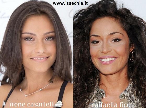 Somiglianza tra Irene Casartelli e Raffaella Fico