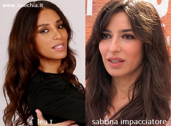 Somiglianza tra Lea T e Sabrina Impacciatore