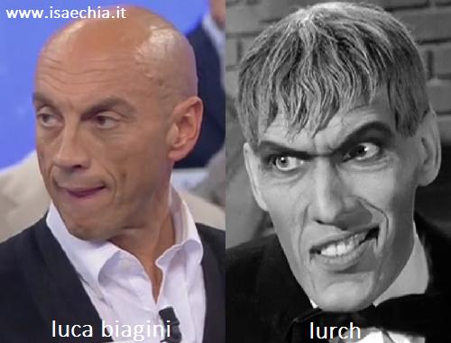 Somiglianza tra Luca Biagini e Lurch de 'La famiglia Addams'