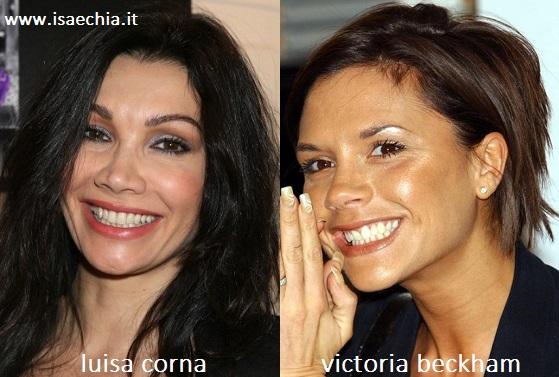Somiglianza tra Luisa Corna e Victoria Beckham