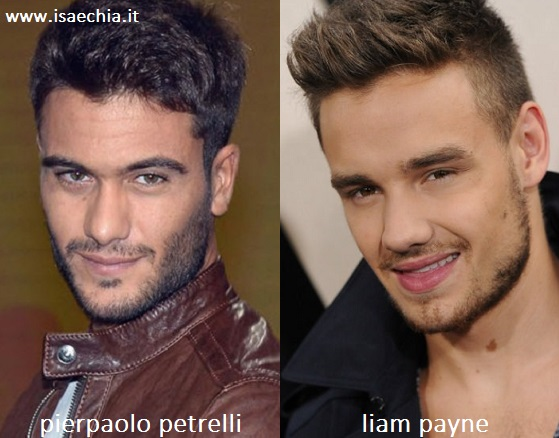 Somiglianza tra Pierpaolo Pretelli e Liam Payne