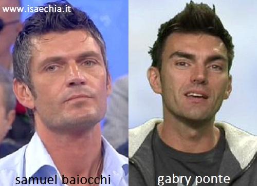Somiglianza tra Samuel Baiocchi e Gabry Ponte