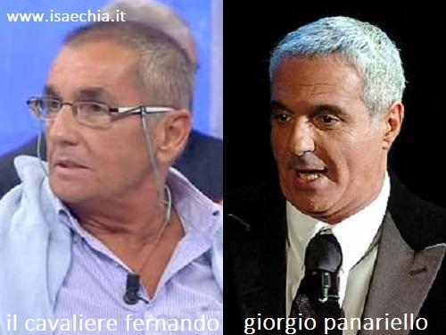 Somiglianza tra il cavaliere Fernando e Giorgio Panariello