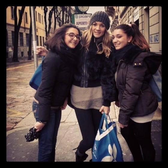 Flavia Fiadone con le fans