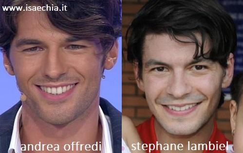 Somiglianza tra Andrea Offredi e Stephane Lambiel