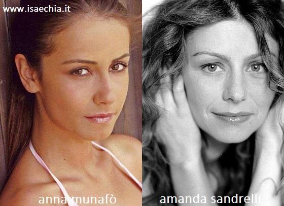 Somiglianza tra Anna Munafò e Amanda Sandrelli