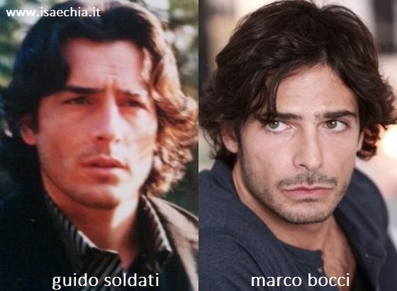 Somiglianza tra Guido Soldati e Marco Bocci