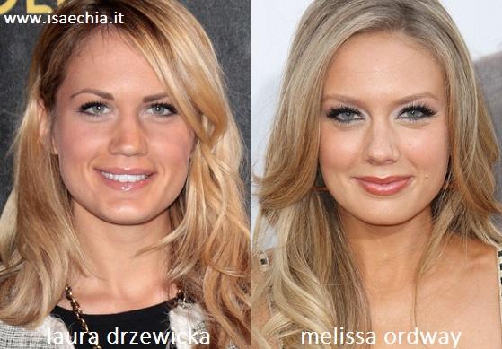 Somiglianza tra Laura Drzewicka e Melissa Ordway