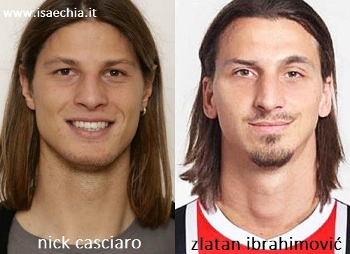 Somiglianza tra Nick Casciaro e Zlatan Ibrahimović