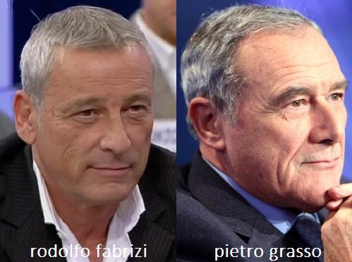 Somiglianza tra Rodolfo Fabrizi e Pietro Grasso