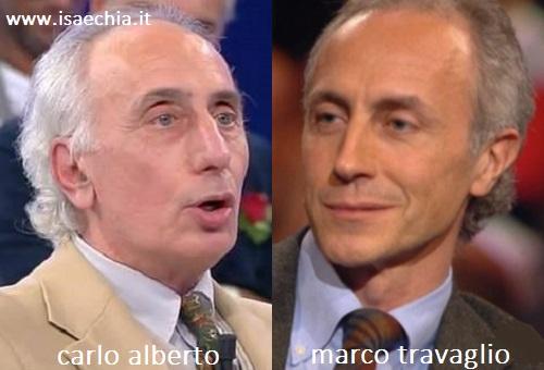 Somiglianza tra il cavaliere Carlo Alberto e Marco Travaglio