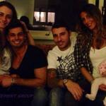 Anna Munafò ed Emanuele Trimarchi con Guendalina Tavassi, Umberto D'Aponte e la piccola Chloe