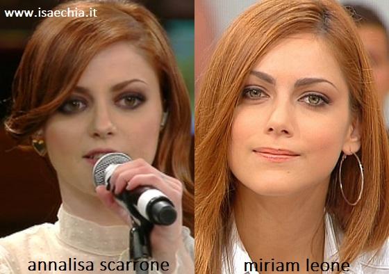 Somiglianza tra Annalisa Scarrone e Miriam Leone