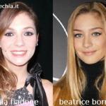 Somiglianza tra Flavia Fiadone e Beatrice Borromeo