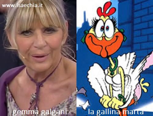 Somiglianza tra Gemma Galgani e la gallina Marta