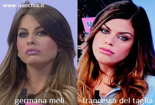 Somiglianza tra Germana Meli e Francesca Del Taglia
