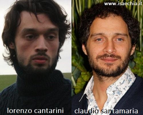 Somiglianza tra Lorenzo Cantarini e Claudio Santamaria