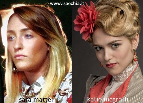 Somiglianza tra Sara Mattei e Katie McGrath