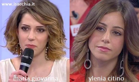 Somiglianza tra la dama Maria Giovanna ed Ylenia Citino